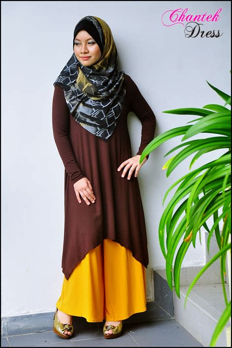 Code Alexya Dress Brown chantek dress malaysia boutique for dress shawl