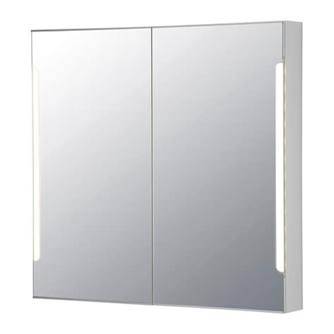 mirrored bathroom cabinets ikea storjorm mirror cabinet w 2 doors light ikea