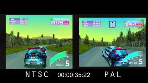 format video pal vs ntsc pal vs ntsc colin mcrae rally 2 0 psx youtube