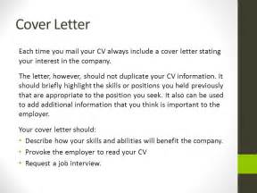 cover letter includes what should a covering letter include