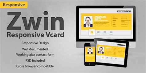 Business Card Website Template 50 personal business card type website templates