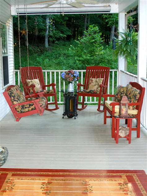 Front Porch Patio Set Front Porch Ideas From Rate My Space Diy Deck Building