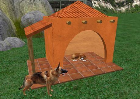 adobe dog house second life marketplace adobe villa de perro dog house doghouses