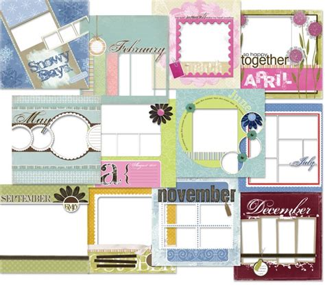 scrapbook calendar template 12 months digital scrapbook memory pages confessions of