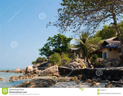 sea bungalows koh samui bungalow with sea view royalty free stock image image