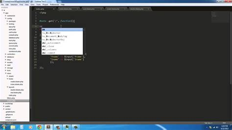 laravel tutorial with xp laravel 4