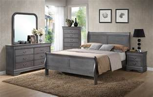 louis phillip grey bedroom set furtado furniture