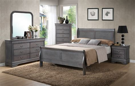 gray bedroom sets louis phillip grey bedroom set furtado furniture