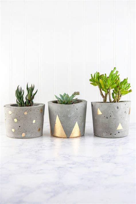 concrete planters diy charming and innovative 14 diy concrete planters