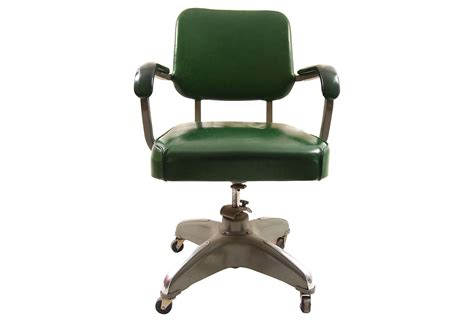 midcentury desk chair mid century modern leather desk chair in green with back