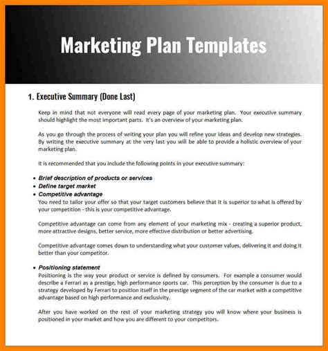 9 sle marketing plan template packaging clerks