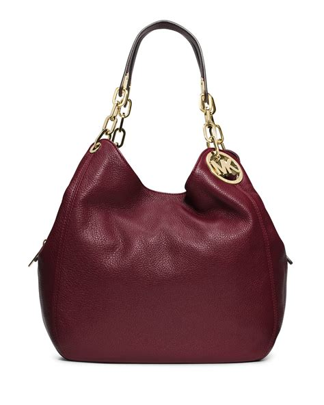 Michael Kors Fulton Lunggage michael michael kors fulton large leather shoulder tote bag in brown lyst