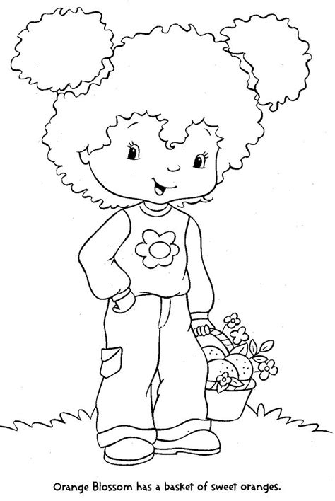 orange blossom strawberry shortcake coloring pages color