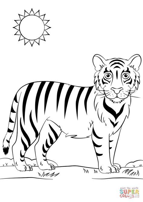 cartoon tiger coloring page cartoon tiger coloring page free printable coloring pages
