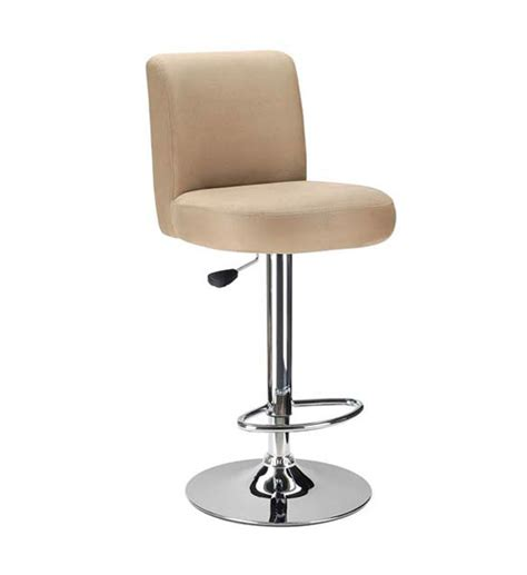 Cushioned Counter Stools Brown Cushioned Bar Stool In Metal Bar Stools
