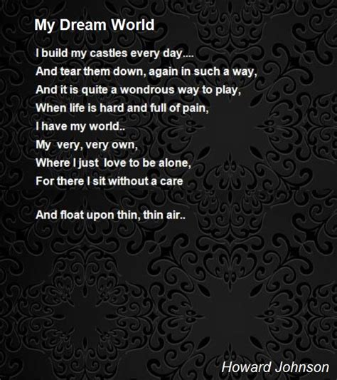 poems for my my world poem by howard johnson poem
