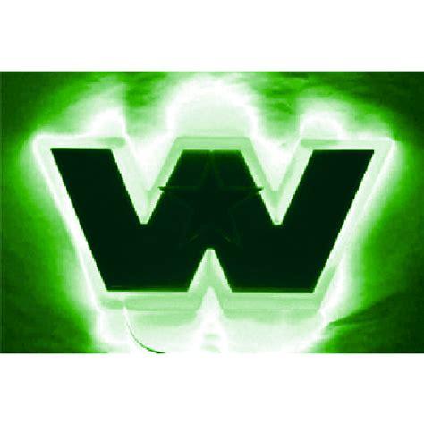 Kaos Shp Logo Glow led backlight western front green truckerstoystore au