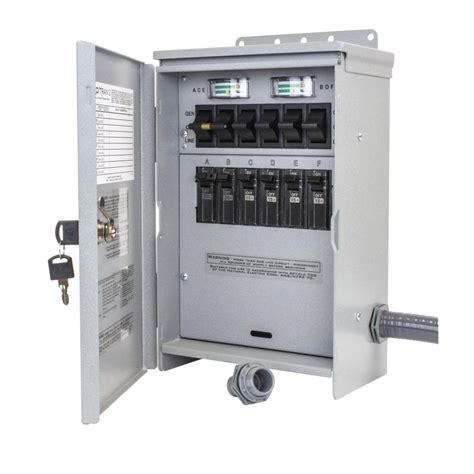 transfer switch electrical  watt  amp  circuit