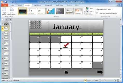 interactive calendar template roadmap powerpoint template powerpoint presentation
