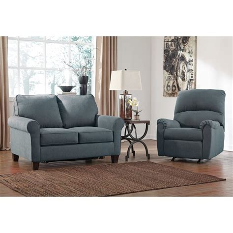 sofa set size ashley zeth 2 piece fabric twin size sleeper sofa set in