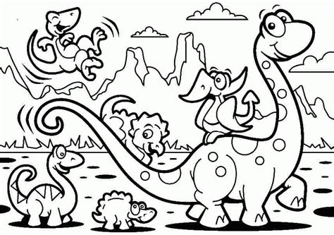 Dinosaurs For Kids Coloring Pages Coloring Home Pictures Of Coloring Pictures
