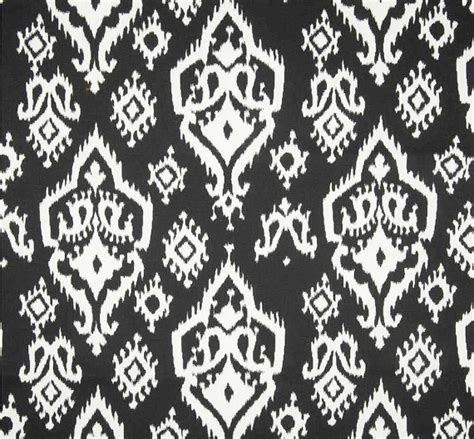 ikat fabric black white home decor fabric by the by