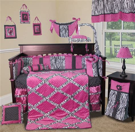 Baby Boutique Zebra Princess 13 Pcs Nursery Crib Baby Princess Crib Bedding