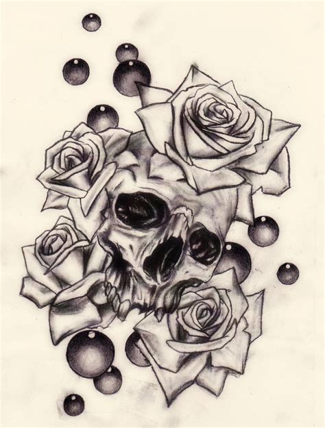 skulls roses tattoos skulls and roses viewing gallery skull s