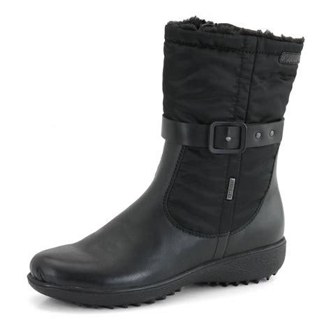 nadja 124 black leather waterproof boot