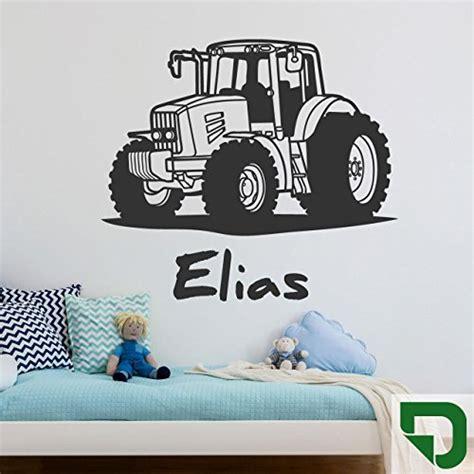 Wandsticker Traktor by Designscape 174 Wandtattoo Traktor Mit Wunschname