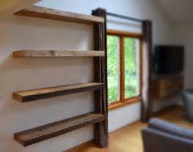 Under The Window Bookcase Hand Made Rustic Floating Shelves By Abodeacious