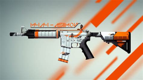Stamp On Right Or Left by M4a4 Asiimov Counter Strike Global Offensive Gt Skins