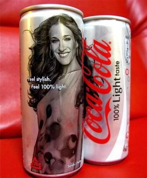 coke commercial jess actress 100 light can sarah jessica parker everything coca