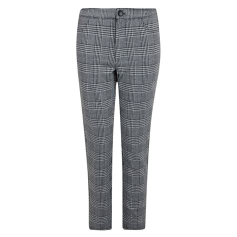 Trousers List trousers grey check ex uk store smart formal womens