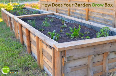 Pallet Garden Box pallet craft how to make a garden grow box