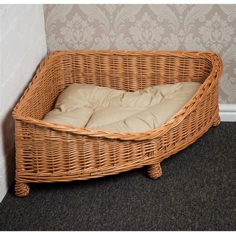 wicker dog bed luxury wicker dog corner basket small