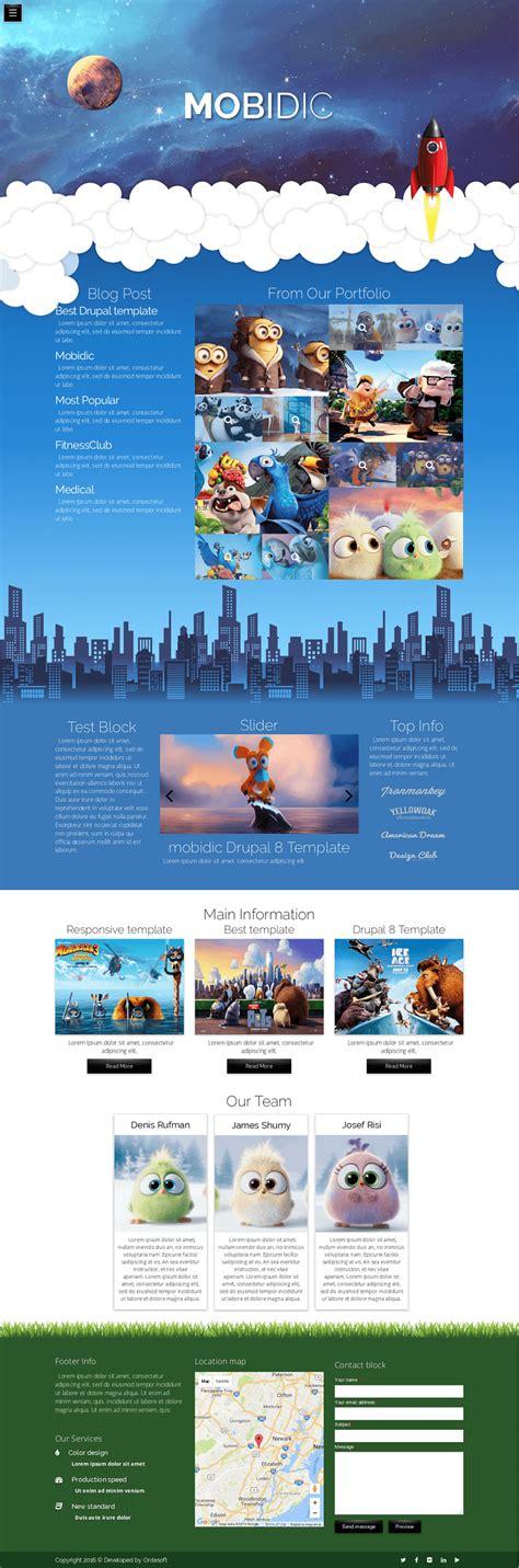 drupal theme with background image mobidic drupal 8 portfolio theme drupal free themes