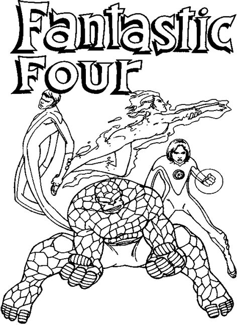 fantastic four 4 cartoon kids coloring part 2