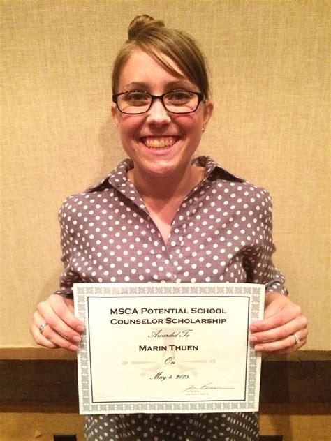 minnesota school counselor association cspp student receives minnesota school counseling