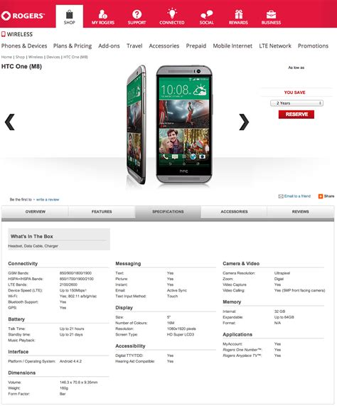 htc one m8 spec rogers outs quot all new htc one quot early official specs