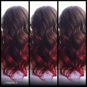 top bottom hair brown with red bottom hair hair styles pinterest
