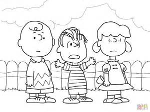 charlie brown lucy linus coloring free printable coloring pages