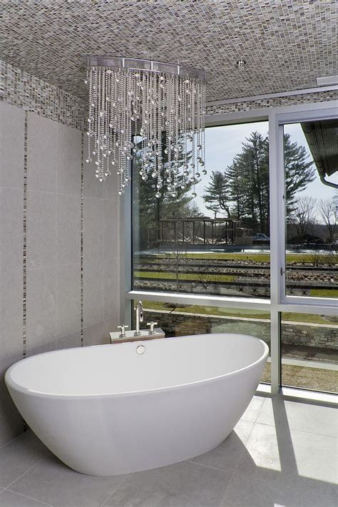 Classic Bathroom Designs 25 sparkling ways of adding a chandelier to your dream