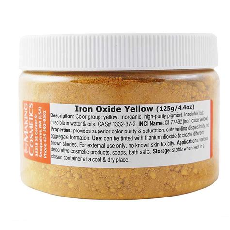 color of iron iron oxide yellow