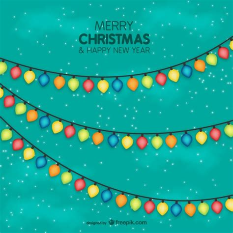 colorful christmas lights vector vector free download