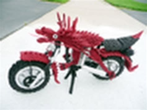 this was how i created an origami motorcycle