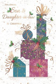 son daughter  law christmas greeting card traditional cards lovely verse christmas