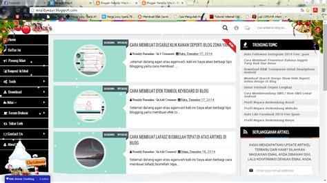 membuat efek blog cara membuat efek spesial natal di blog renaldy ways