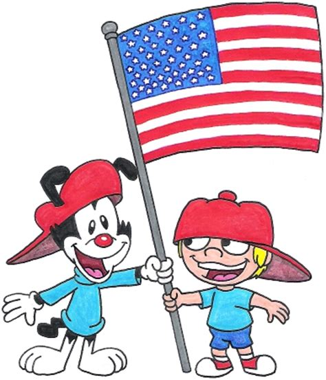 wakko and froggo celebrate the 4th of july by