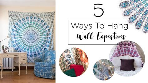 how to hang on wall 5 ways to hang a wall tapestry my crafts and diy projects